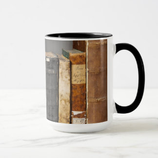 Antique Books on Shelf Coffee Mug