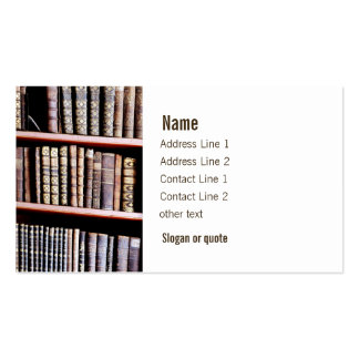 Antique Books on Shelves Business Card
