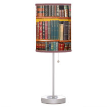 Antique Books Table Lamp