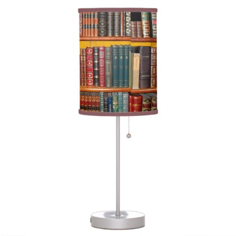 Antique Books Table Lamp