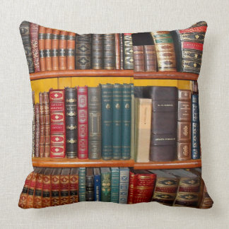 Antique Books Throw Pillow