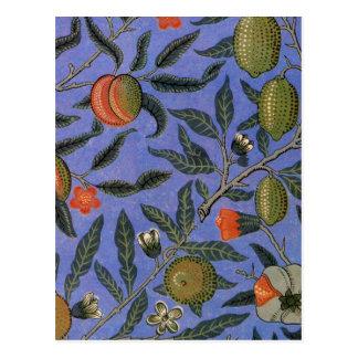 Antique Botanical Design Postcard