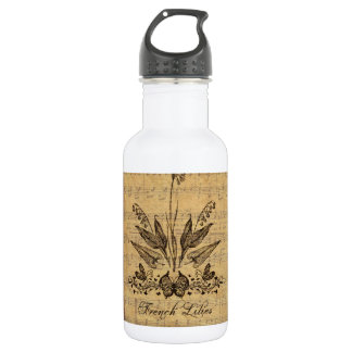 Antique Botanical French Lillies Water Bottle