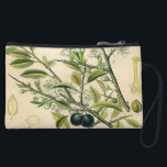 "Antique Botanical Print Blackthorn Floral Drawing Wristlet Wallet<br><div class=""desc"">The Blackthorn print is a detailed antique botanical drawing of a blackthorn bush created in the 1800s. The botanical print includes the long thorns, leaves, flowers, and fruit of the blackthorn shrub, also known as the prunus spinosa. The blackthorn flowers are a beautiful little white flower, while the fruit looks...</div>"