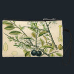 """Antique Botanical Print Blackthorn Floral Drawing Wristlet Wallet<br><div class=""""desc"""">The Blackthorn print is a detailed antique botanical drawing of a blackthorn bush created in the 1800s. The botanical print includes the long thorns, leaves, flowers, and fruit of the blackthorn shrub, also known as the prunus spinosa. The blackthorn flowers are a beautiful little white flower, while the fruit looks...</div>"""