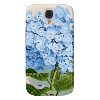 Antique Botanical Romantic Blue Hydrangea Samsung Galaxy S4 Case