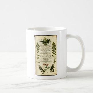 Antique Botany Bookplate Coffee Mug