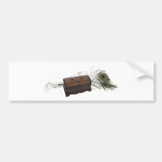 Antique Box and Feathers Bumper Sticker