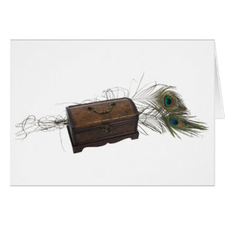 Antique Box and Feathers Card