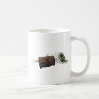 Antique Box and Feathers Coffee Mug