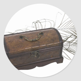 Antique Box and Feathers Stickers