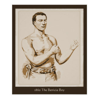 Antique boxing 1860 The Benicia Boy Poster