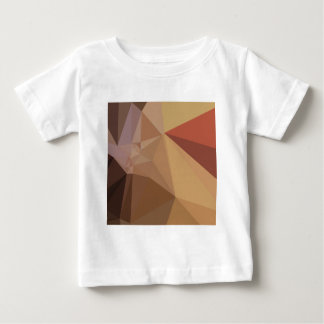 Antique Brass Brown Abstract Low Polygon Backgroun Baby T-Shirt