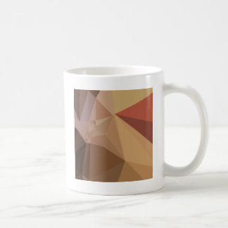 Antique Brass Brown Abstract Low Polygon Backgroun Coffee Mug