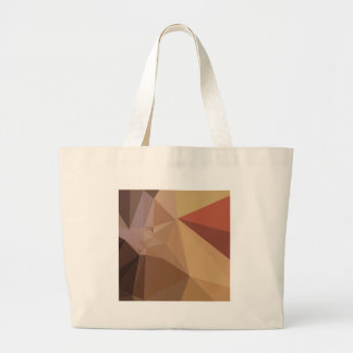 Antique Brass Brown Abstract Low Polygon Backgroun Large Tote Bag