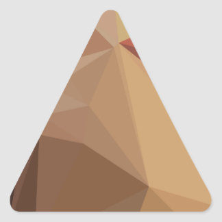 Antique Brass Brown Abstract Low Polygon Backgroun Triangle Sticker
