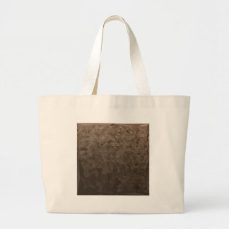 Antique Brass Camo Abstract Low Polygon Background Large Tote Bag