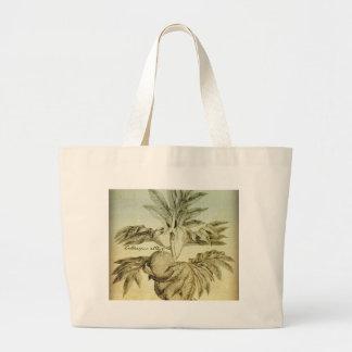 Antique Breadfruit Artocarpus Altilis Jumbo Tote Bag