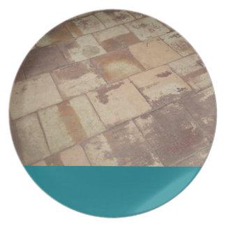 Antique Brick flooring (Green) Plate