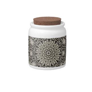 Antique Bridal Lace Candy Jar