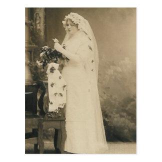 Antique bride post card