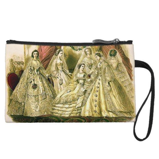 Antique Bride Vintage Wedding Wristlet Wallet