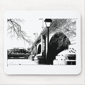 Antique Bridge in Pen and Ink Mouse Pad