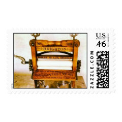 Antique Brighton Clothes Wringer Postage Stamp