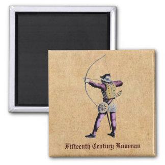Antique British Costume 15th Century Bowman Magnet