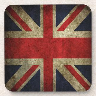 Antique British Union Jack Flag UK Coasters