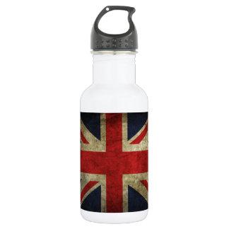 Antique British Union Jack Flag UK 18oz Water Bottle