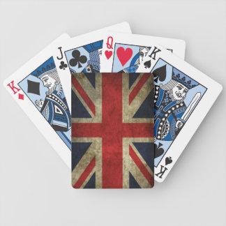Antique British Union Jack Flag UK poker deck