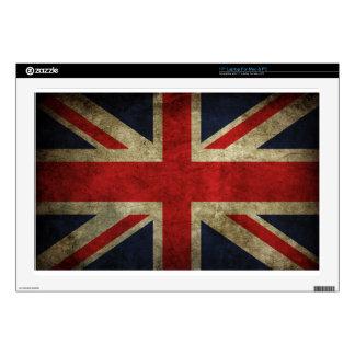 "Antique British Union Jack Flag UK Skins For 17"" Laptops"