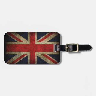 Antique British Union Jack Flag UK Travel Bag Tag