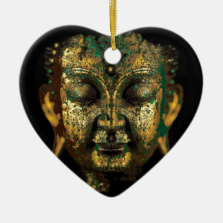 Antique Bronze Buddha Face Gifts by Sharles Ceramic Ornament