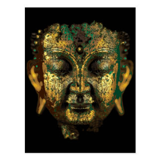 Antique Bronze Buddha Face Gifts by Sharles Postcard
