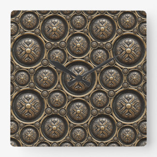 Antique Bronze Pattern Wall Clock