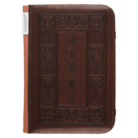 Embossing Fabric Book Cover : Antique brown leather embossed book design kindle cover