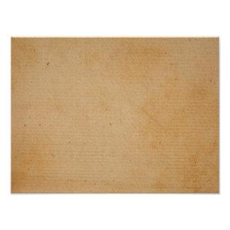 Antique Brown Paper Background Texture Design Photo Print