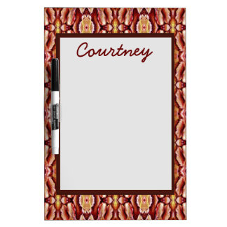 Antique Brown Sepia Lace Pattern Dry Erase Board