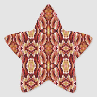 Antique Brown Sepia Lace Pattern Star Sticker