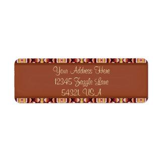 Antique Brown Sepia Lace Vintage Retro Old 1800's Return Address Labels