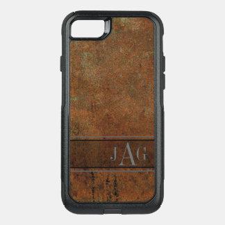 Antique Brown Textured Design OtterBox Commuter iPhone 8/7 Case