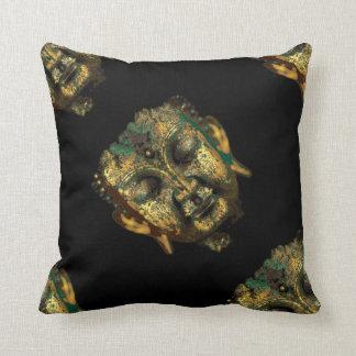 Antique Buddha Head Pillow by Sharles