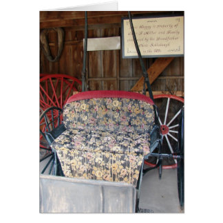Antique Buggy Card