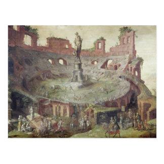 Antique Bullfighting, 1552 Postcard