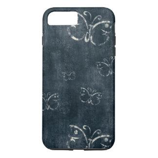 Antique Butterflies on Dark Blue iPhone 7 Plus Case