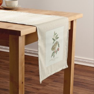 Antique Butterfly Engraving Table Runner