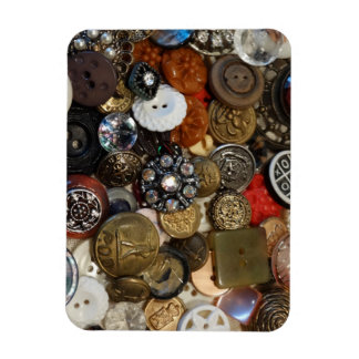 Antique Button Collage Magnet