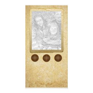 Antique Button Photo Template